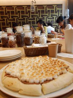 Chocolate pizza from Max Brenner on Omotesando, Tokyo, Japan