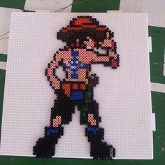 Ace One Piece hama mini beads by diegowop_hamawop_shop