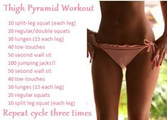 Plyometrics Total Body Workout - Done at home or at your gym. Mostly body weight exercises, only minimal weights needed. I did this total body workout full and it left me feeling torched! Fitness Workouts, Fitness Motivation, Fitness Diet, Health Fitness, New Shape, Get In Shape, Fitness Inspiration, Pyramid Workout, Thigh Exercises