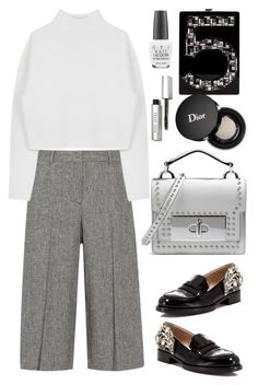 """""""Theory Cullottes"""" by thestyleartisan ❤ liked on Polyvore featuring Chanel, Theory, Marc Jacobs, Dion Lee, Christian Dior, OPI, N°21, Bobbi Brown Cosmetics, women's clothing and women"""