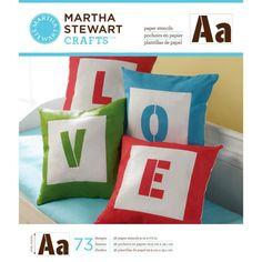 Martha Stewart Large Paper Stencils 36 Sheets/pkg Sans Serif Alphabet 73 Designs for sale online Martha Stewart Stencils, Martha Stewart Crafts, Sewing Art, Sewing Crafts, Diy Crafts, Large Stencils, Stencil Material, Light Crafts, Online Craft Store