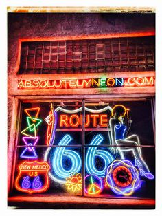 Neon Signs Route 66 Albuquerque New Mexico Route 66 Sign, Route 66 Road Trip, Travel Route, Sign O' The Times, Historic Route 66, Vintage Neon Signs, Albuquerque News, Roadside Attractions, Old Signs