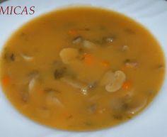Cheeseburger Chowder, Thai Red Curry, Soup Recipes, Ethnic Recipes, Portugal, Mushroom Soup, Butternut Squash Soup, Portuguese Recipes, Collard Greens