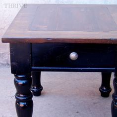 old side table just needed some love and now it looks amazing! via Remodelaholic.com
