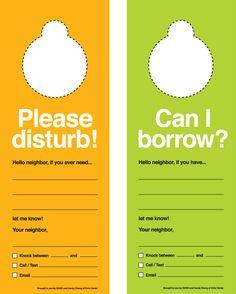 Fun idea for increasing roommate/neighbor communication!