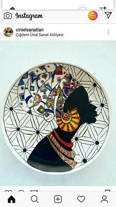 China Painting, Ceramic Painting, Ceramic Art, Ceramic Pottery, Islamic Art Pattern, Pattern Art, African Pottery, African Art Paintings, Lotus Art