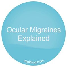 Ocular Migraine, A Visual Disturbance I recently started having these and they are very scary!
