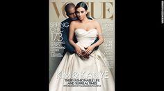kim kanye vogue | Kim Kardashian and Kanye West appear on the cover of Vogue magazine's ...