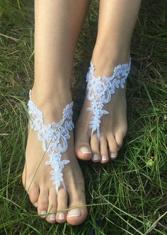Bridal Foot Jewelry, Beach Wedding Sandals Bridal Sandals, White wedding sandles, Women's bridal ankle sandals, Women's bridal ankle sandles