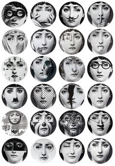 PIERO FORNASETTI I Would Love To Have A Few Of These Plates To - Piero fornasetti wallpaper designs