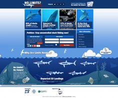 Shark Trust 'No Limits No Future' Campaign website