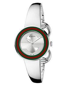 Gucci Watch, Women's Swiss U-Play Stainless Steel Bangle Bracelet 27mm YA129506 - Gucci - Jewelry & Watches - Macy's