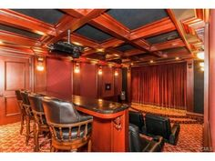 This is the way to go! Lovely home movie theater