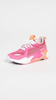 "5. Reebok ""Freestyle"" Hi top sneakers in hot pink, neon"