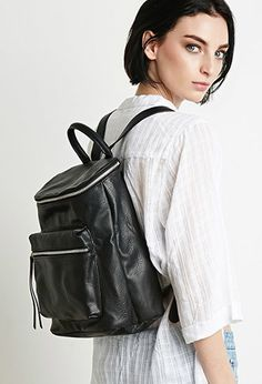 Faux Leather Backpack | Forever 21 - 1000113626