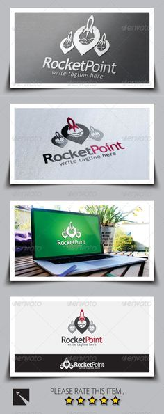 Rocket Point Logo Template — Vector EPS #rocket #vacation • Available here → https://graphicriver.net/item/rocket-point-logo-template/8737997?ref=pxcr