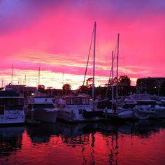 Last night's sunset @ Marina Del Rey