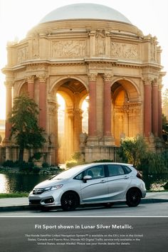 From Los Angeles to San Francisco and beyond, road-trip with ease in the available built-in Honda Satellite-Linked Navigation System™ with Voice Recognition in the 2019 Honda Fit. Sit back, relax, and enjoy San Francisco's many sights! Honda S, Automotive Photography, Small Cars, Best Model, Rear Seat, Automobile, Sporty, Building, Fitness