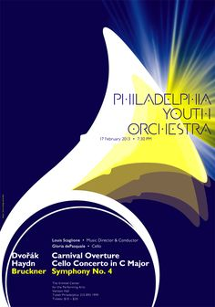 paone design associates : poster: 2013 February – Philadelphia Youth Orchestra Winter Concert
