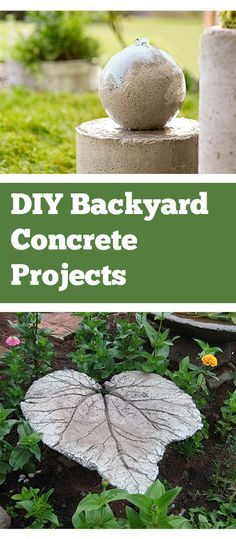 Backyard Concrete projects and tutorials.  Great ideas for landscape concrete projects that are amazing.  DIY concrete steps, firepits and more.
