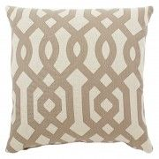 Cream and tan throw pillow $57