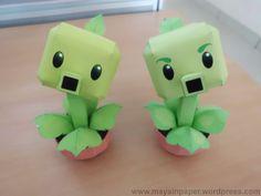 1 of 3--- Plants Vs Zombies Papercraft
