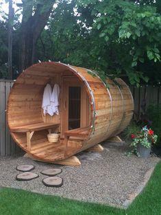 Garden Yard Ideas, Backyard Projects, Backyard Patio, Backyard Landscaping, Saunas, Outdoor Rooms, Outdoor Living, Ideas Cabaña, Building A Sauna