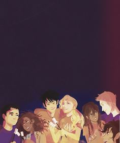 I cannot get over Leo's face it this. I mean, here we have Hazel and Frank, Percy and Annabeth, Piper and Jason and then Leo...just Leo xD