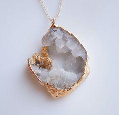 Druzy Statement Necklace : Geode Jewelry  www.etsy.com/shop/443Jewelry