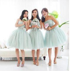 Tulle Bridesmaid Dress, Short Bridesmaid Dress, Bridesmaid Dress, Discount Bridesmaid Dress, Pretty Bridesmaid Dress