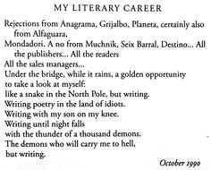 From The Unknown University, the complete poems of Roberto Bolaño. From New Directions and translated by Laura Healy.