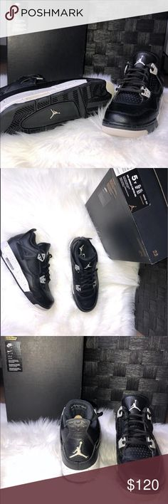 Shop Kids  Jordan Black Gray size Sneakers at a discounted price at  Poshmark. Description  BRAND NEW  UNWORN Oreo 4 Release) (Women sz 7 or can  fit). d8f0401f0