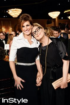 Photographer Art Streiber's Exclusive Photos From Backstage at the 2014 Golden Globes - Julia Roberts and Meryl Streep from #InStyle
