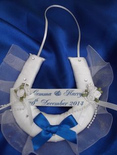 PERSONALISED WEDDING HORSESHOE LUCKY CHARM HANDMADE GIFT