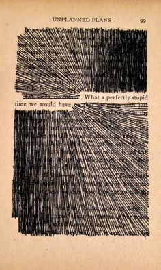 great way to make a page of an old book a message, would also work with stitching out the other parts