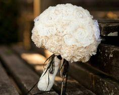 Bouquet de Noiva em tecido. Feito por encomenda.