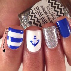I love the little anchor with those colors. It would also look good in neon pink.