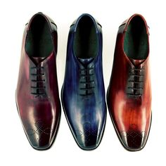 These hand-patinated Monte-Carlo oxfords from our ICONICS conic collection are the pride and joy of Patino shoes.