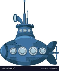 Blue submarine for you design vector image on VectorStock Door Decoration For Preschool, Boat Crafts, Lifebuoy, Paper Flowers Craft, Drawing For Kids, Craft Patterns, Royalty Free Images, Colored Pencils, Transportation