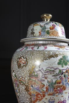 This #porcelain temple jar tells an entire tale in vibrant, hand-painted detail.