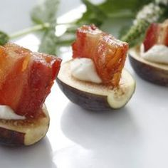 Figs with Blue Cheese Cream and Smoked Bacon, photo by Bethany Pickard