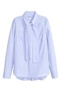 Camisa de algodão com laçada | H&M