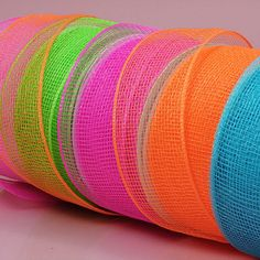 Deco Mesh Ribbon from Paper Mart. Use to make colorful mesh wreaths or garland.