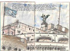 Cuaderno Roma 2012. Nano S-Beato. Castillo de Sant´Angelo