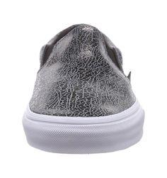 Amazon.com: Vans Unisex Cracked Metallic Classic Slip-On Sneaker: Shoes