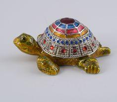 Turtle Trinket Box by Keren Kopal Faberge Egg Austrian Crystal | eBay