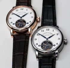 Lange and Sohne 1815 Tourbillon Watch Hands-On Moonphase Watch, Tourbillon Watch, Watch This Space, Watch Case, Luxury Watches, Pink And Gold, Watches For Men, Clock, Mens Fashion
