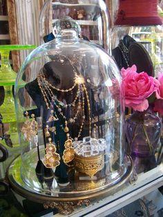 Bell Jar jewelry display {via Bountiful}