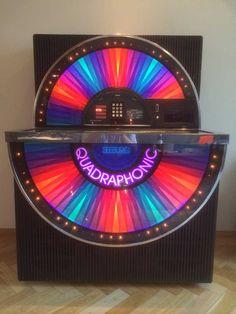 Seeburg jukebox from the 70s, with Quadrophonic sound! https://en.wikipedia.org/wiki/Quadraphonic_sound - My GF had the discrete system (video) https://www.youtube.com/watch?v=3xg66OTl6Ck