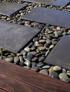 25 Beautiful Backyard Landscaping Ideas Adding Beach Stones to Modern Backyard